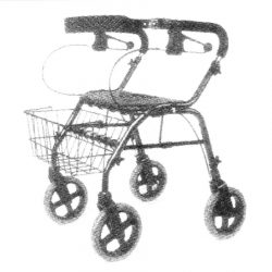 Mobility-Independent-with-4-Wheeled-Walker